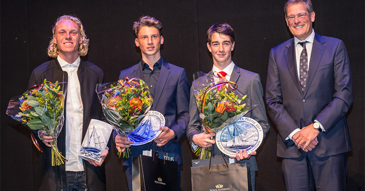 Bjarne Bouwer & Eliott Savelon - Winnaars Flyer Trofee 2017, genomineerde Sil Hoekstra links