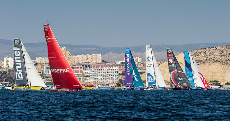 Volvo Ocean Race start in Alicante
