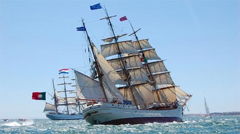 Tall ship bark EUROPA