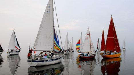 Windstille start 24 Uuurs zeilrace
