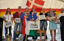 Het dames podium in Denemarken