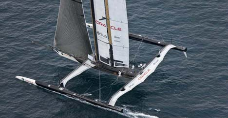Wing sail van BMW Oracle Racing