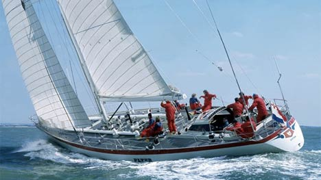 Flyer II tijdens de Whitbread Round the World Race in 1981-82