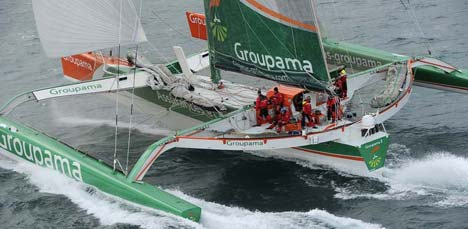 Groupama 3 in de Jules Verne Trophy