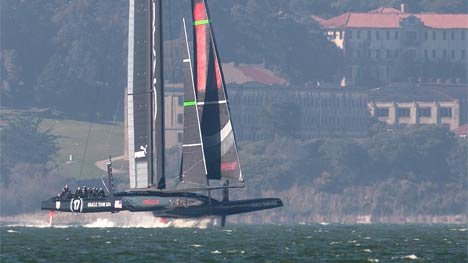 Oracle Team USA foiling