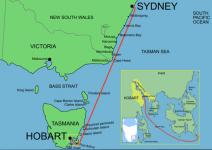 Sydney Hobart Route