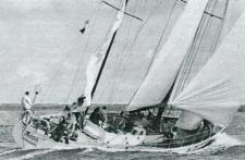 Tielsa tijdens de Whitbread round the World race van 1977-1978