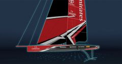 Foiling America's Cup AC75 boot